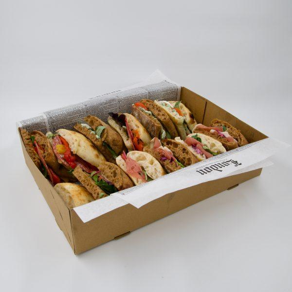 "rosco broodje bestellen utrecht ""Lente"" Italian flatbread Box"